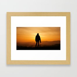 Light and shadow Framed Art Print
