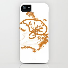 Ochre. Abstraction. iPhone Case