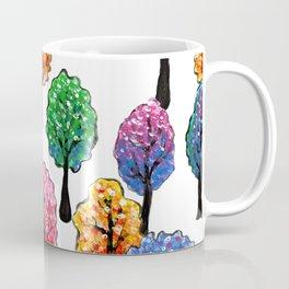 Forest - Tree Pattern Illustration - Acrylic Painting Coffee Mug