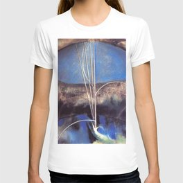Song of the Nightingale, Tuscany, Italy landscape by Joseph Stella T-shirt