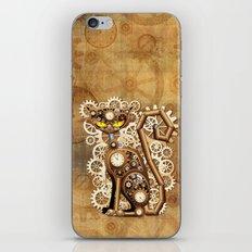 Steampunk Cat Vintage Style iPhone Skin