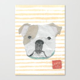 English Bulldog, Modern Canvas Print
