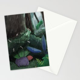 Oddish in the rain Stationery Cards