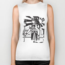 Egyptian Ankh Woman Ancient History Empire Cleopatra Illuminati T-Shirts Biker Tank