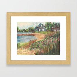 Beach House 2 Framed Art Print