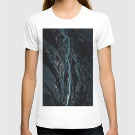 Abstract River in Iceland - Landscape Photography T-shirt