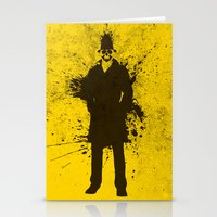 watchmen Stationery Cards featuring WATCHMEN - RORSCHACH (YELLOW EDITION) by Zorio