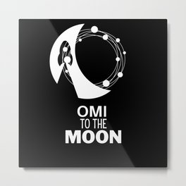 OMI to the Moon ECOMI cryptocurrency alt coins Metal Print