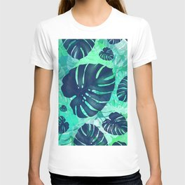 monstera leaves tropical 2 T-shirt