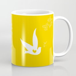 Wings of Love - Golden & Yellow Coffee Mug