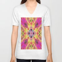 kaleidoscope V-neck T-shirts featuring Kaleidoscope by Assiyam