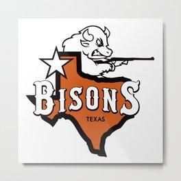 Bisons Ultimate actual team logo official gears Metal Print