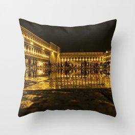 Golden Venice . Throw Pillow