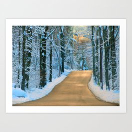 Dashing Thru The Snow Art Print