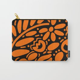 Beautiful Orange Otomi Carry-All Pouch