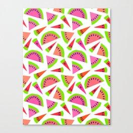 Juicy, juicy watermelon ... Canvas Print