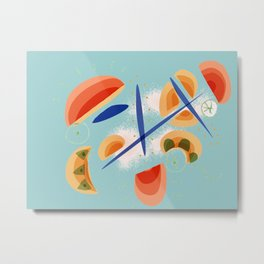 Bluish Dream | Happy modern art | Happy abstract Metal Print