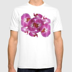 Orchids No.1 White Mens Fitted Tee MEDIUM
