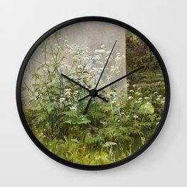 "Ivan Shishkin ""Flowers at the fence"" Wall Clock"