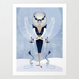 Angel of Swords Art Print