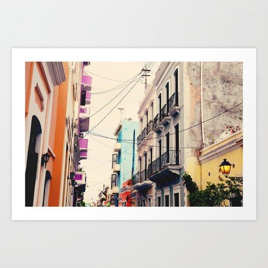 Colorful Buildings of Old San Juan, Puerto Rico Art Print