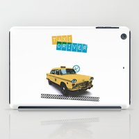 taxi driver iPad Cases featuring Taxi driver by Marta Colomer
