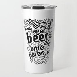 Beer Glass Word Travel Mug