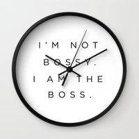 boss Wall Clocks featuring Boss by Trend