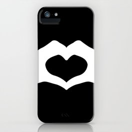 Hands making a heart shape- portraying love iPhone Case