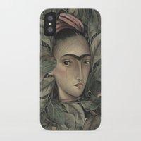 frida kahlo iPhone & iPod Cases featuring Frida Kahlo by Antonio Lorente