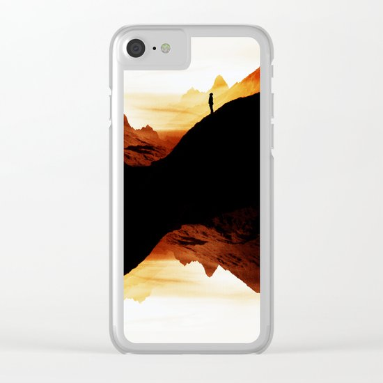 Red wasteland Clear iPhone Case