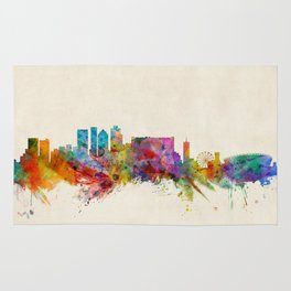 Cape Town South Africa Skyline Rug