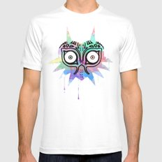 Watercolor's Mask White SMALL Mens Fitted Tee
