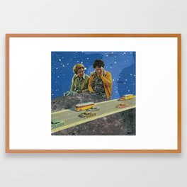I Liked the Moon Better Before it Got All Touristey Framed Art Print