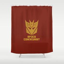 Space Communist Shower Curtain