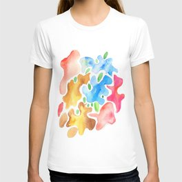 170623 Colour Shapes Watercolor 3| Abstract Shapes Drawing | Abstract Shapes Art|Watercolor Painting T-shirt