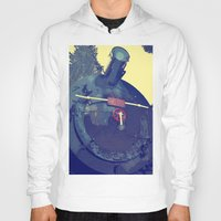 train Hoodies featuring train  by gzm_guvenc