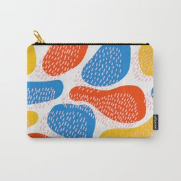 Abstract Orange, Blue and Yellow Memphis Inspired Pattern Carry-All Pouch