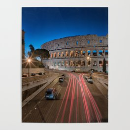 Colosseum at dawn Poster
