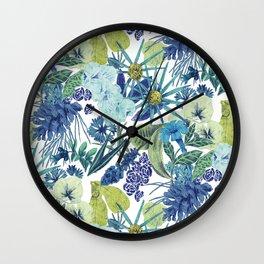 FLOWERPOWER (BLUE) Wall Clock
