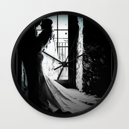 Bride and Groom Wall Clock