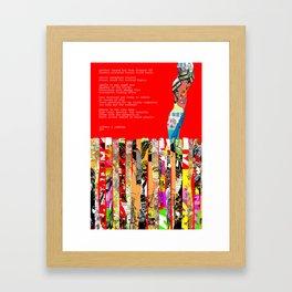 Jx3 Poem - 1 Framed Art Print