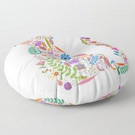 Fancy And Fine Flowered Cat Garden Design Floor Pillow