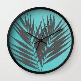 Palm Leaves #1 #Mint #decor #art #society6 Wall Clock