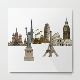 Around the world Metal Print