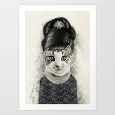 audrey cat Art Print