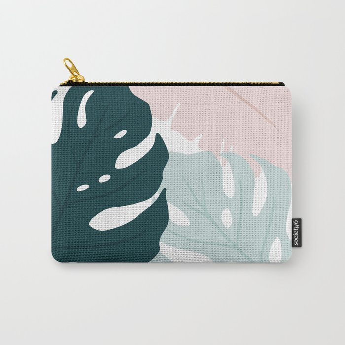 Minimal Monsteras Carry-All Pouch