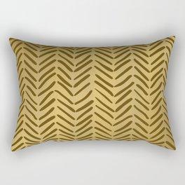 GOLDEN HERRINGBONE I Rectangular Pillow