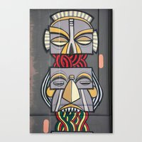 totem Canvas Prints featuring Totem by Sébastien BOUVIER