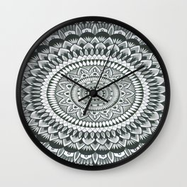 a word with myself print Wall Clock